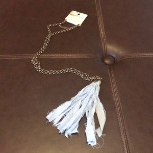 Jewelry - NWT Light blue tassel necklace
